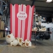 BT TV - Giant Popcorn and Giant Hand Props