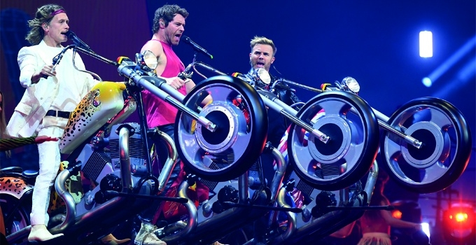 Take That 'Greatest Hits'  Tour 2019 - Ride-on props  (image - David J Hogan)
