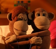 BBC fabricated monkey puppets