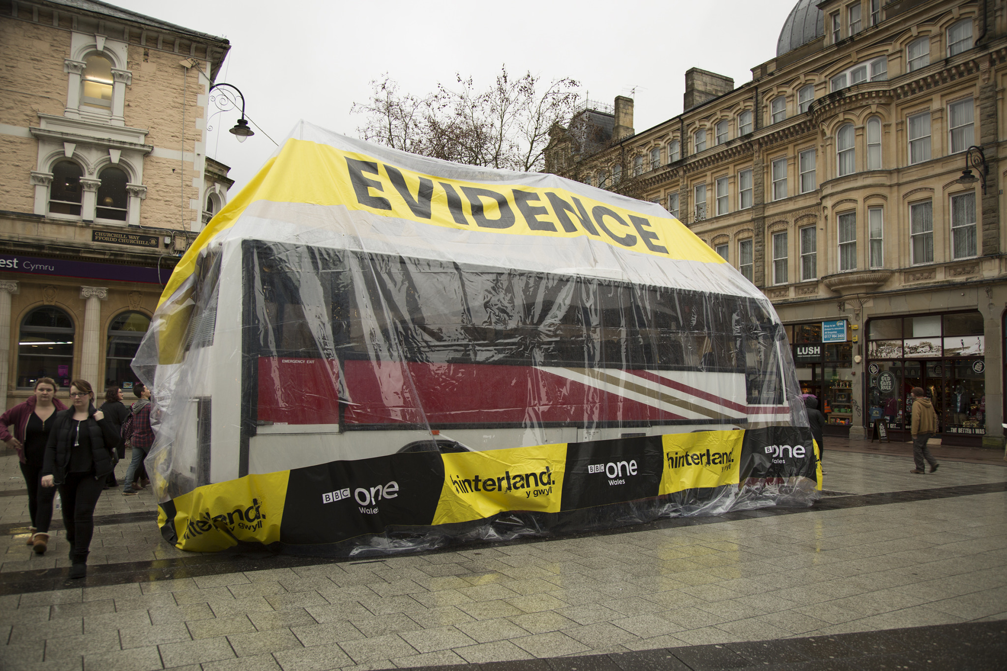 Bus in an Evidence Bag